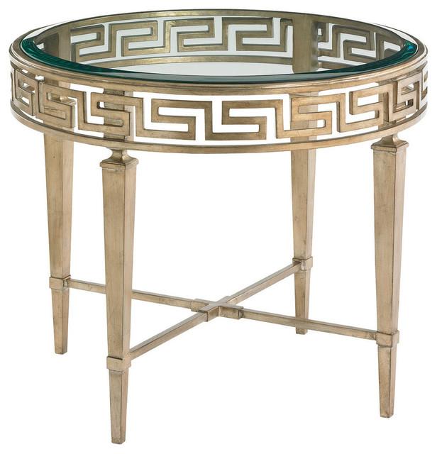 Lexington Chunky Chrome Coffee Table: Lexington Tower Place Aston Round Lamp Table 706-951