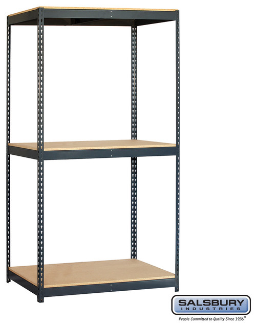 Salsbury Industries Solid Shelving - 48 Inches Wide - 84 Inches High - 24 Inches - Contemporary ...