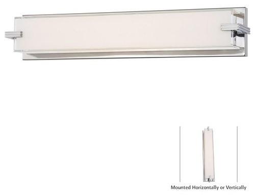 Kovacs Cubism 1 Light LED Bathroom Bath Bar In Chrome Transitional Bathro