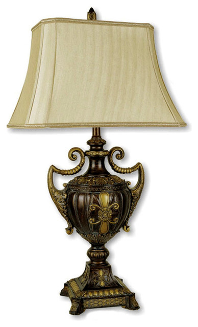30 Quot Urn Shape Table Lamp Antique Gold Victorian Table