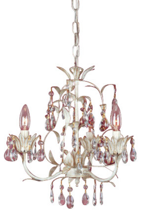 Laura Ashley Lavenham Wall Lights : Laura Ashley MLVH0373 Lavenham 3-Light Mini Chandelier - Chandeliers - by Lighting Front