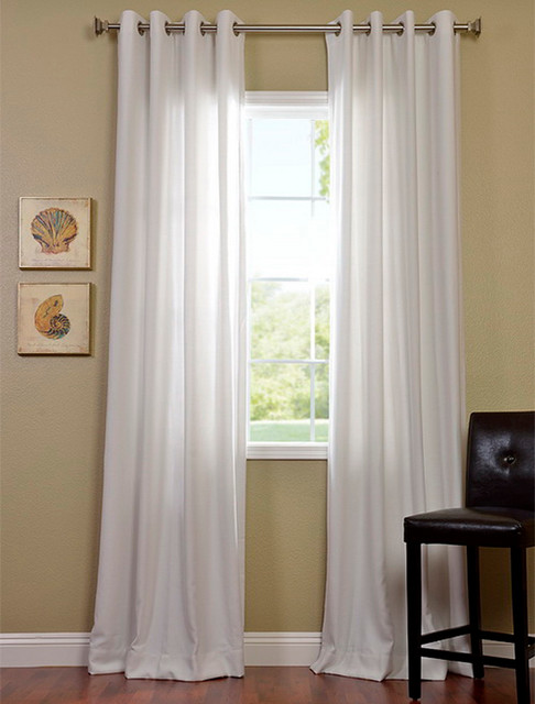 Polar White Grommet Cotenza Curtain - Contemporary ...