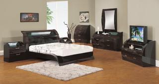 pc madison bedroom set in zebrano modern bedroom furniture sets