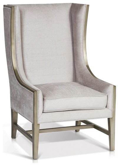 High Back Wing Arm Chair - Contemporary - Armchairs ...