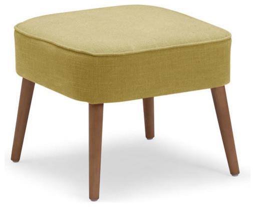 Zuo modern buckeye stool in mustard contemporary for Mustard bathroom accessories uk