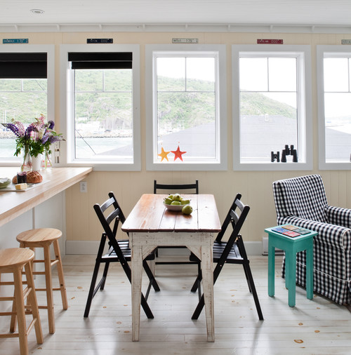Eclectic White Kitchen: A Joyful Cottage: Living Large In Small Spaces