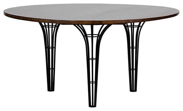 Noir Eifel Table Dark Walnut Dining Tables by LDC Home : dining tables from www.houzz.com size 640 x 388 jpeg 31kB