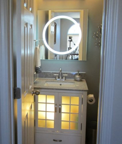 Dallas Bathroom Vanities: Wall Mounted Lighted Vanity Mirror LED