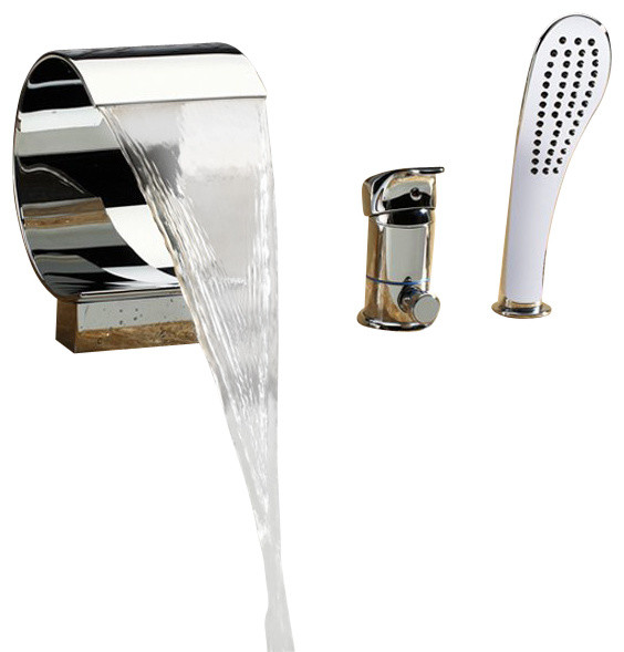 High End Faucets : ... Tub Faucet With High End Hand Shower contemporary-bathtub-faucets