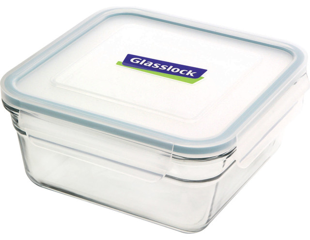 Glasslock Oven Safe Square 6.0 cup - Modern - Food Storage Containers - by Glasslock USA