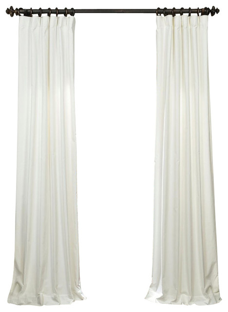 white vintage cotton velvet curtain contemporary curtains by