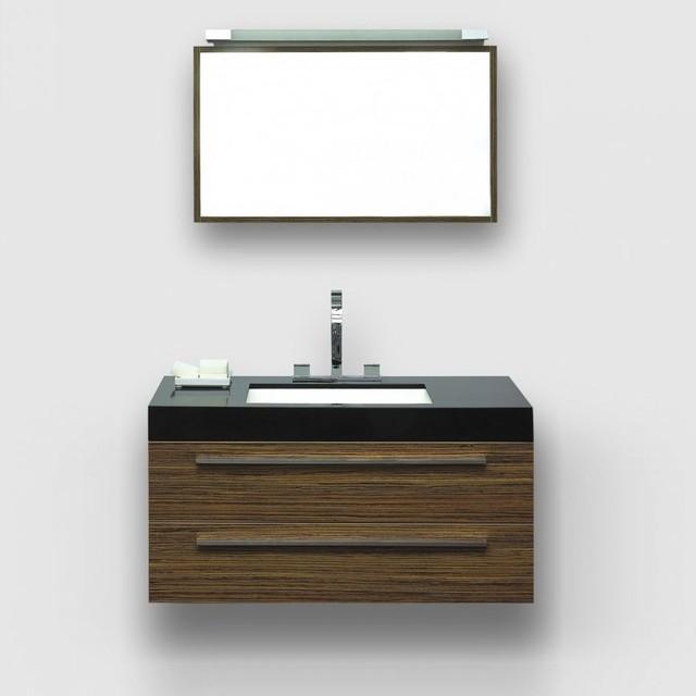 Lusso Stone Mezzano Zebrano Designer Wall Mounted Bathroom Vanity Unit 1000 Modern Bathroom