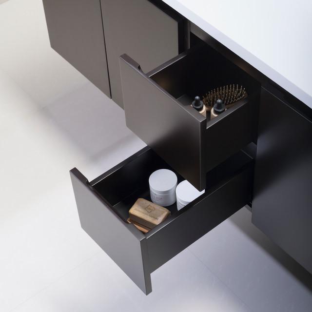 Wall Mounted Bathroom Vanities - Modern - Bathroom Vanity Units & Sink ...