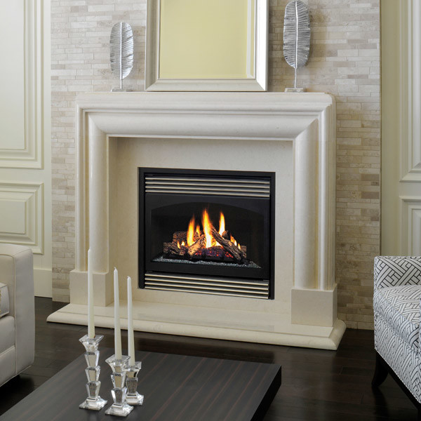 Marble fireplace mantels avalon contemporary - Pictures of fireplace mantels ...
