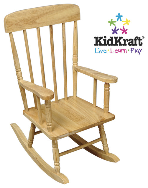 kidkraft spindle rocking chair white 1