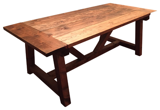 Trestle Farmhouse Table With Breadboards Farmhouse Dining Tables