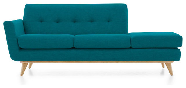 Hughes chaise lucky turquoise blue midcentury indoor for Blue chaise lounge indoor