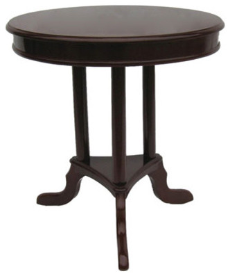 Mahogany Round 24 Inch End Table Modern Side Tables End Tables By Bellacor