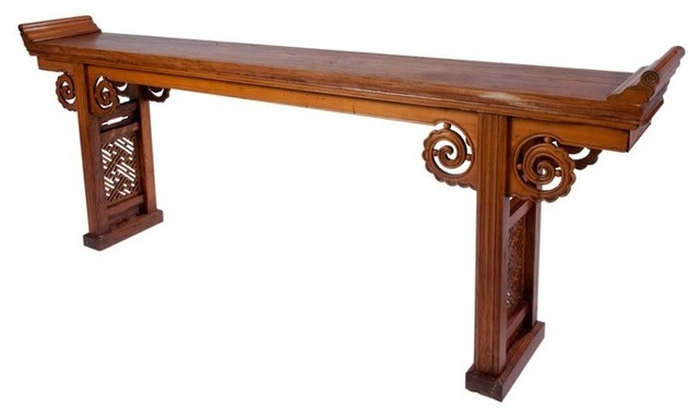 Long chinese alter table with drawers asian side for Long side table