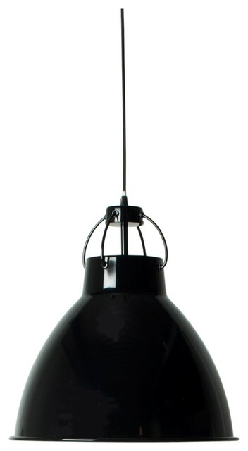 Suspension design industriel deliving couleur noir for Luminaire suspension industriel