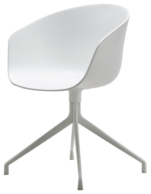 About a chair armchair 4 legs swivel chair by hay for Swivel dining chairs modern