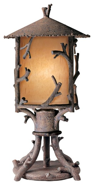 Cheyenne Collection Outdoor Pier Mount Rustic Post Lights
