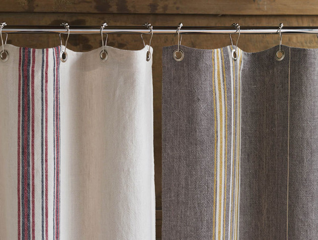 Coyuchi Rustic Linen Shower Curtain Eclectic Shower Curtains Other Metro By Abc Carpet