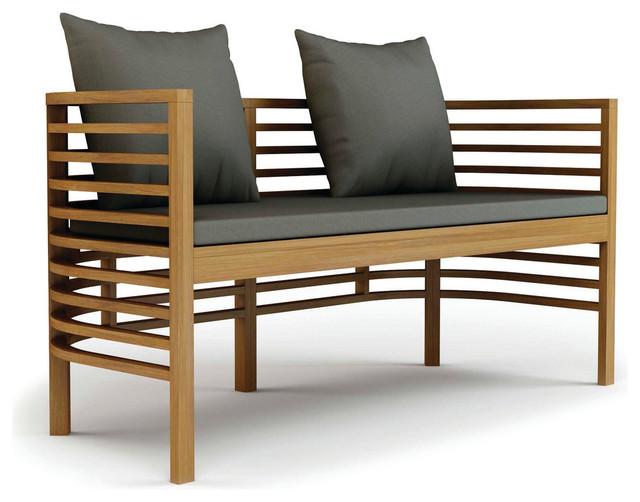 Modern Outdoor Benches : Spirals Teak Collection Bench modern-outdoor-benches
