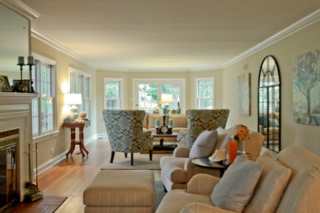 Bright Modern Cottage Traditional Living Room Other