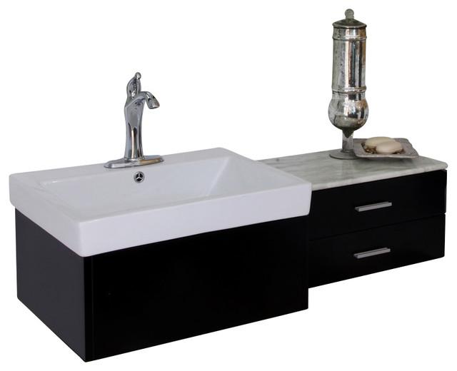 Bellaterra 45 8 Single Sink Vanity Wood Black Contemporary Bathroom Vanities And Sink