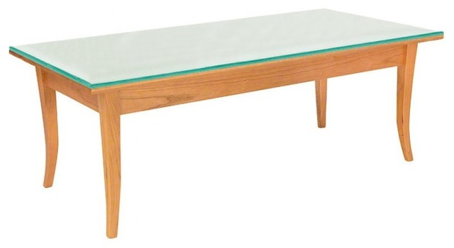 Classic Shaker Flare Leg Glass Top Coffee Table Traditional Coffee Tables By Vermont Woods