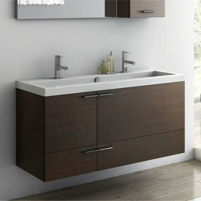 47 inch vanity cabinet with fitted sink contemporary