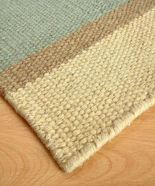 Amelia island wool berber stripe rug transitional rugs for Wool berber area rug