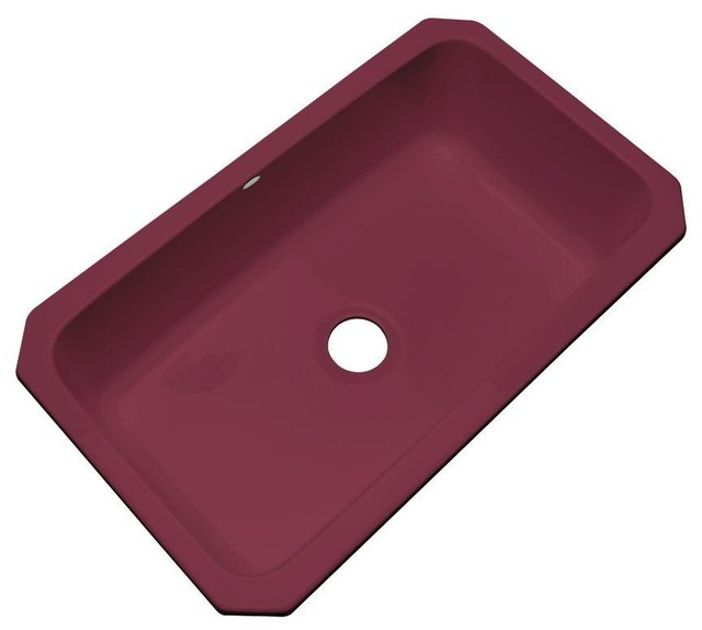 Contemporary Kitchen Designed With Undermount Sink And Led: Thermocast Kitchen Manhattan Undermount Acrylic 33x19.5x9