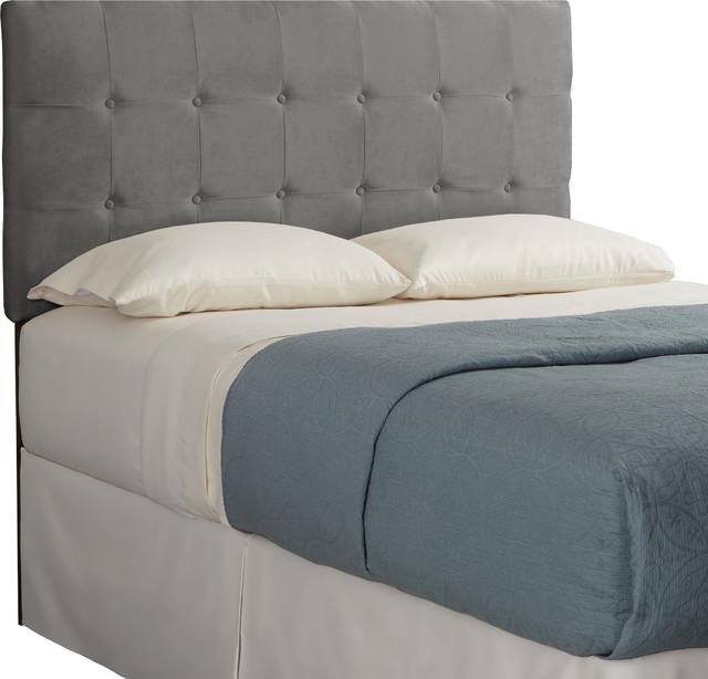Humble Haute Sussex Velvet Grey Full Tufted Upholstered