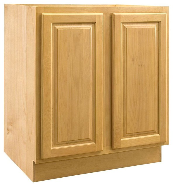 assembled in vanity base cabinet with full