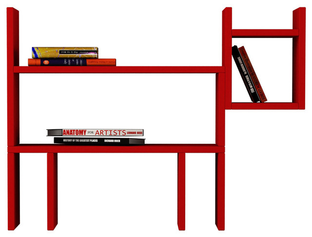 DOGIE WALL SHELF, Red - Contemporary - Display And Wall ...