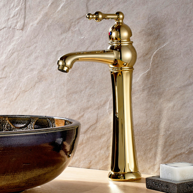 Designer Polished Brass Bathroom Vessel Sink Faucet 027g Modern Bathroom Sink Taps Other