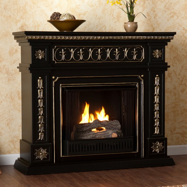 Upton Home Alessia Black Gel Fuel Fireplace Contemporary Fireplace Accessories By