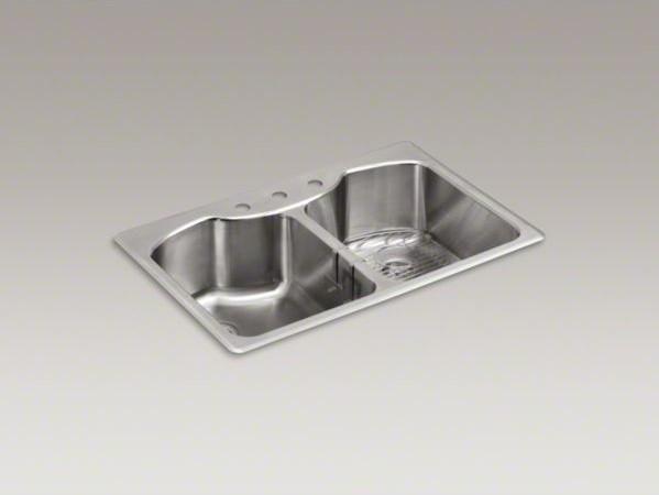 Kohler Kitchen Sinks Stainless Steel Top Mount : All Products / Kitchen / Kitchen Fixtures / Kitchen Sinks