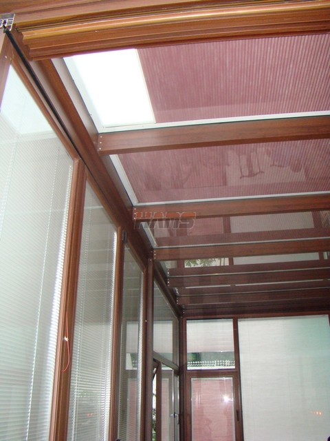 Insulated glass with electric cellular shades sun roof for Type of blinds for windows