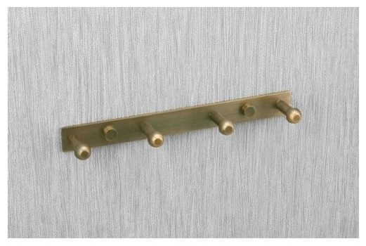 Antique brass finish Wall Mount Row Robe Hook 011-4 traditional-robe ...