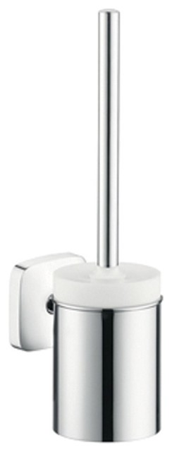 Hansgrohe 41505000 puravida toilet brush w holder in chrome traditional toilet brushes Traditional bathroom accessories chrome