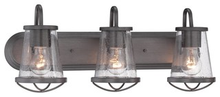 Bathroom Vanity Lights Industrial : Designers Fountain Darby Bathroom Lighting Fixture - Industrial - Bathroom Vanity Lighting - by ...