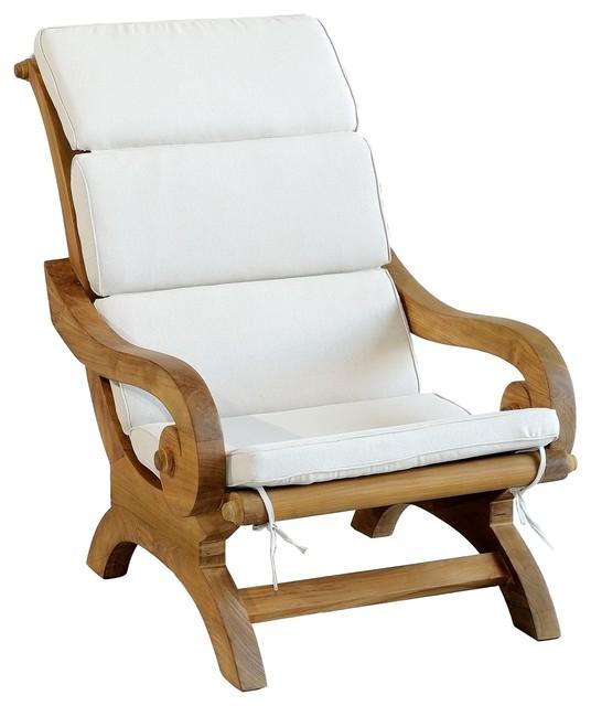 Monte Carlo Lounge Chair With Cream Cushion Craftsman