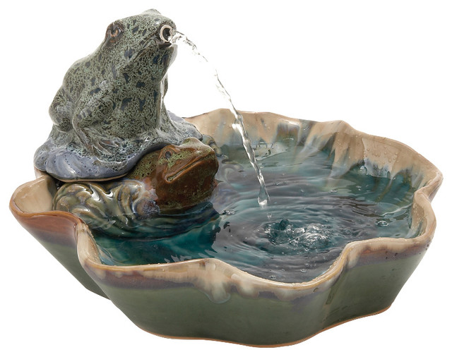 modern classy d creative ceramic frog fountain home decor contemporary indoor fountains