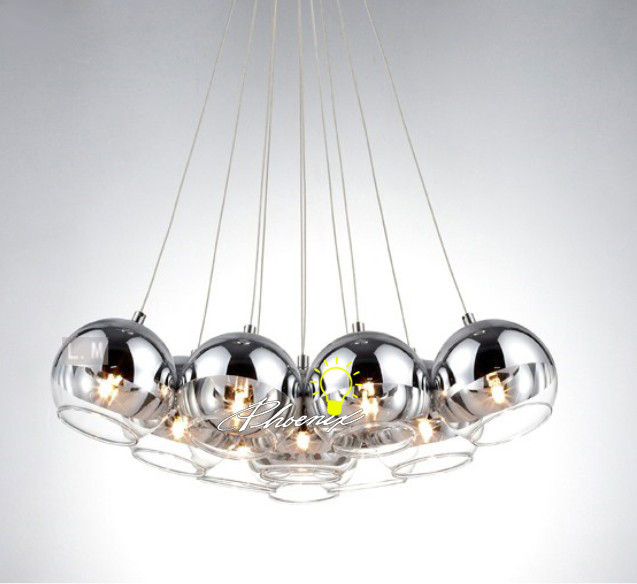 Updated Plating Glass Ball Pendant Lighting