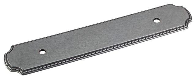 B812-96R-DACM Cabinet Pull Backplate in Gun Metal - Traditional - Cabinet And Drawer Hardware ...