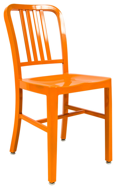 Leisuremod Alton Modern Dining Chair In Orange
