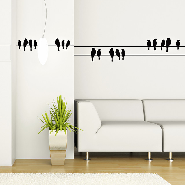 birds on a wire wall vinyl Wall Decals